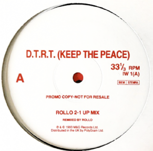 "Ian Wright - D.T.R.T. (Keep The Peace) (12"") (Promo) (VG-/VG)"